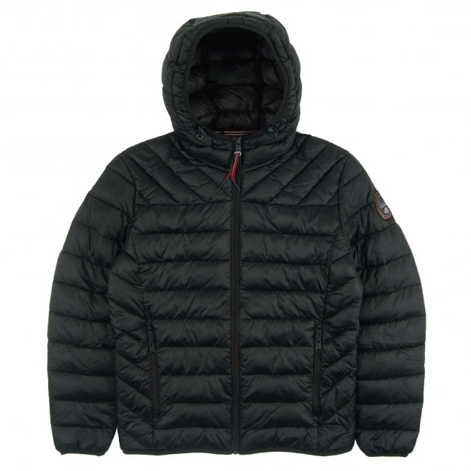 Napapijri Aerons Hooded Quilt Jacket Black