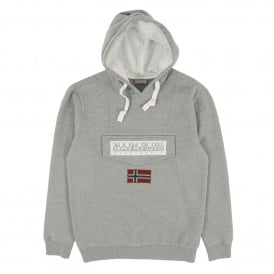 Burgee Hooded Sweat Med Grey Marl