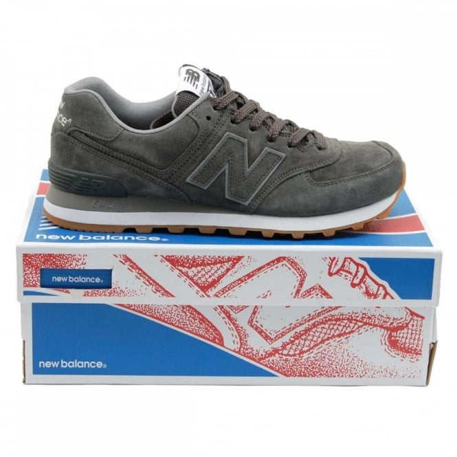 083a945a233212 New Balance ML574 FSC Pigskin Suede Grey - Mens Clothing from Attic ...