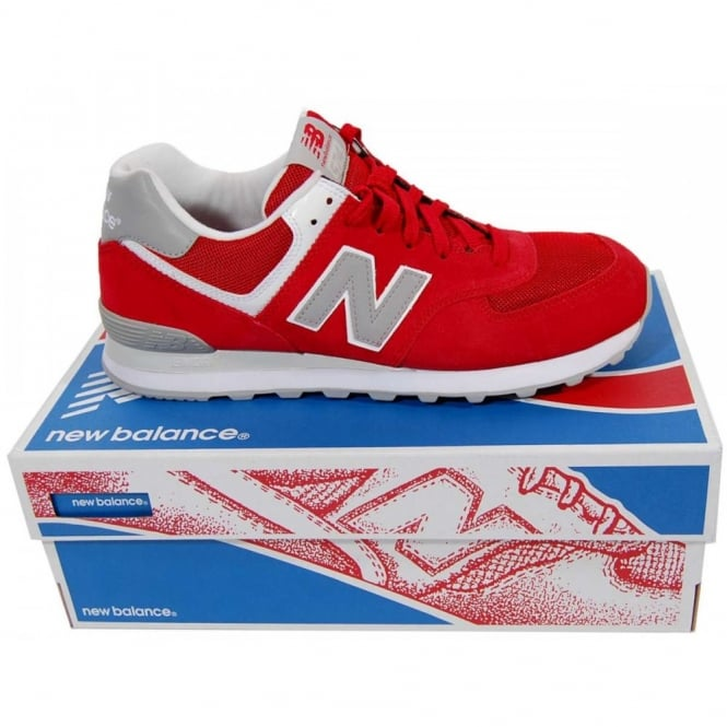 authentic new balance 574 ml574vrd red grey white 817d7 c38c9