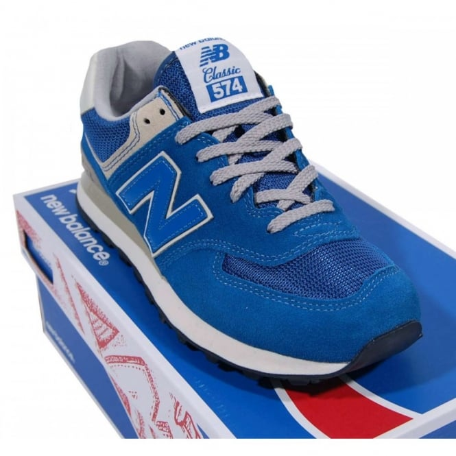Noce Solito Perciò  ML574 VTR Suede Mesh Vintage True Blue - Mens Clothing from Attic Clothing  UK