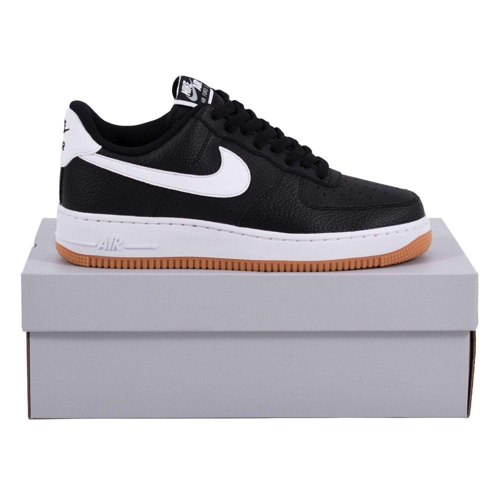 419d772c06 Nike Air Force 1 Black White Wolf Grey Gum Med Brown