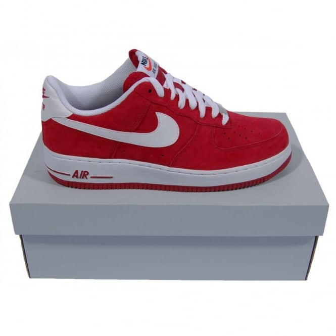 b38f74f4d3 Nike Air Force 1 Low Suede Gym Red White - Mens Clothing from Attic ...