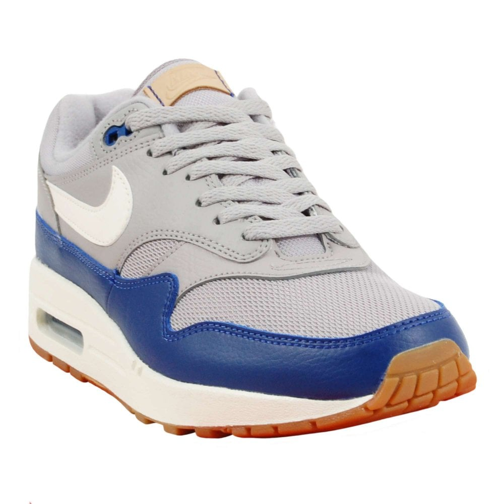 lower price with huge selection of excellent quality Nike Air Max 1 Atmosphere Grey Sail Deep Royal Blue Gum - Mens ...