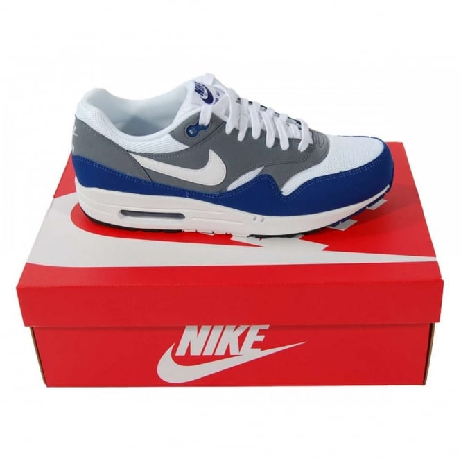 95ef139c1e Nike Air Max 1 Essential Deep Royal Blue White - Mens Clothing from ...