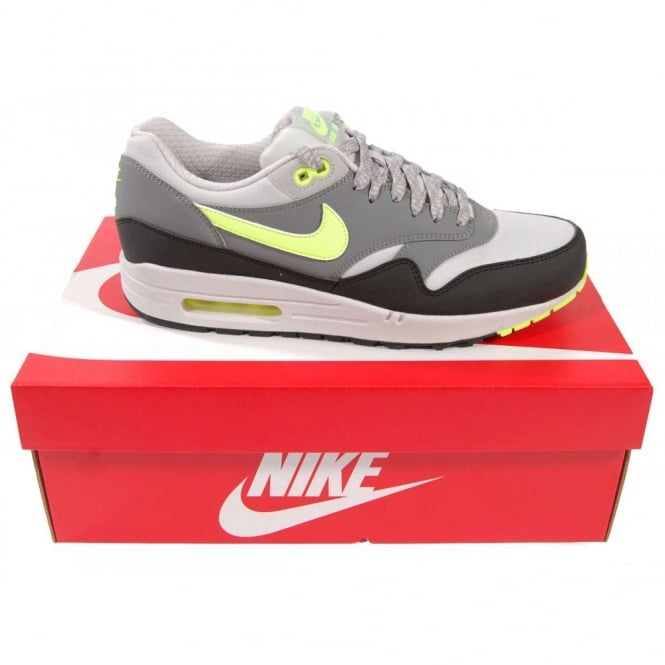 factory authentic c1622 f7325 Nike Air Max 1 Essential Dusty Grey Volt - Mens Clothing from Attic  Clothing UK