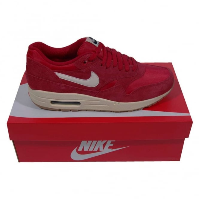 online retailer a01d2 8b6b6 Nike Air Max 1 Essential Gym Red Sail - Mens Clothing from Attic Clothing UK