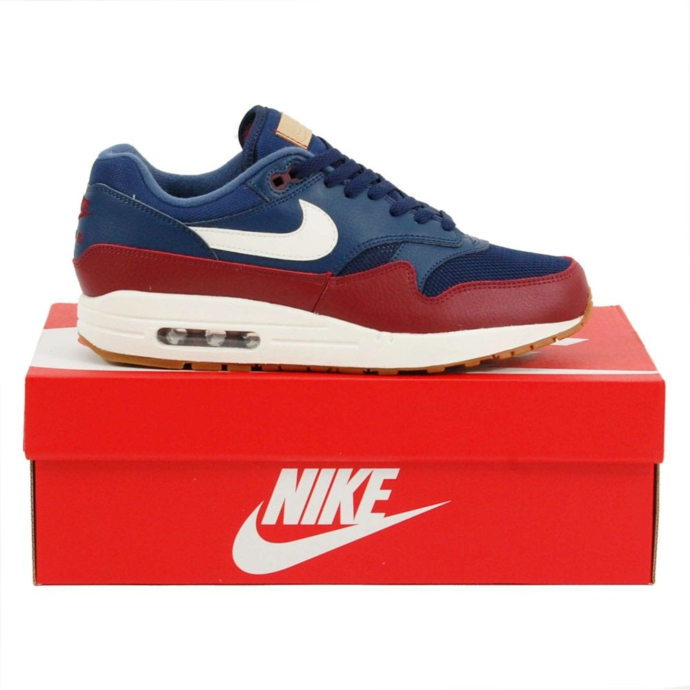 new style 7b65b 51506 Air Max 1 Navy Sail Team Red Gum