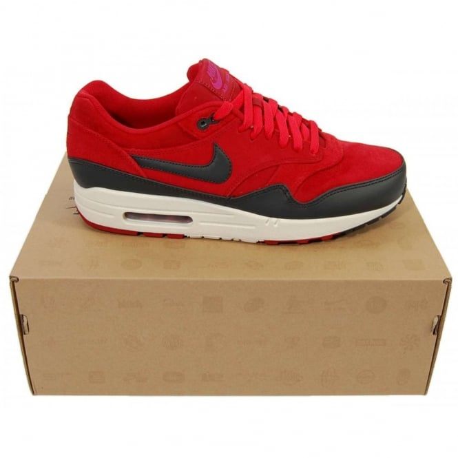 bc16afb710425 Nike Air Max 1 Premium Gym Red Anthracite - Mens Clothing from Attic ...