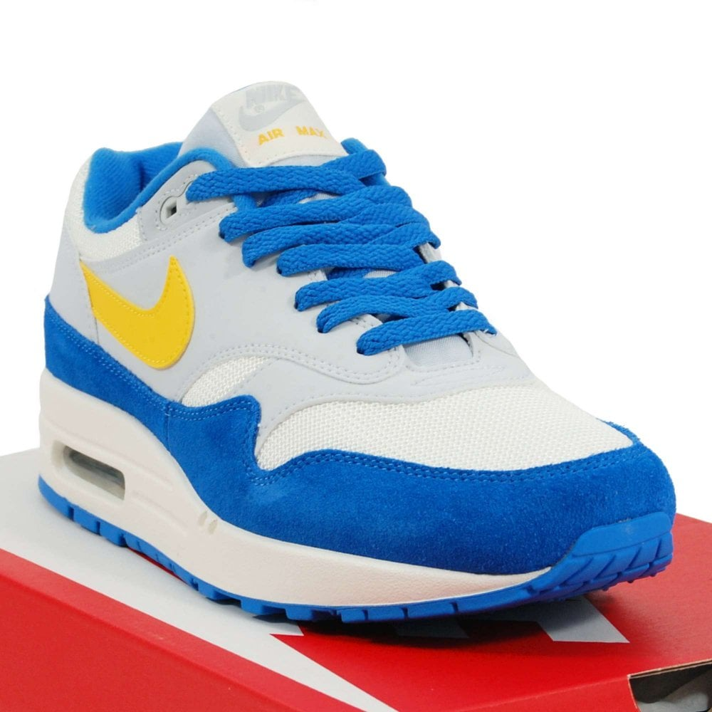 new arrivals nike air max 1 white signal blue 488f9 500da