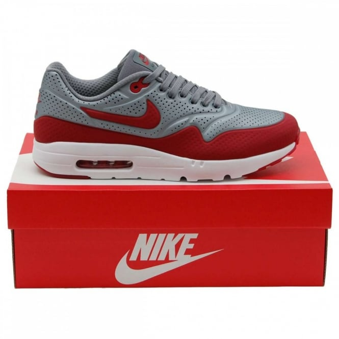 new product fdfe2 5d6c8 Air Max 1 Ultra Moire Metallic Cool Grey Gym Red