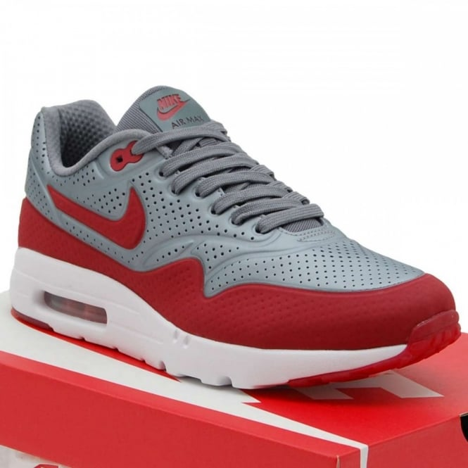 new product daa17 a994c Air Max 1 Ultra Moire Metallic Cool Grey Gym Red