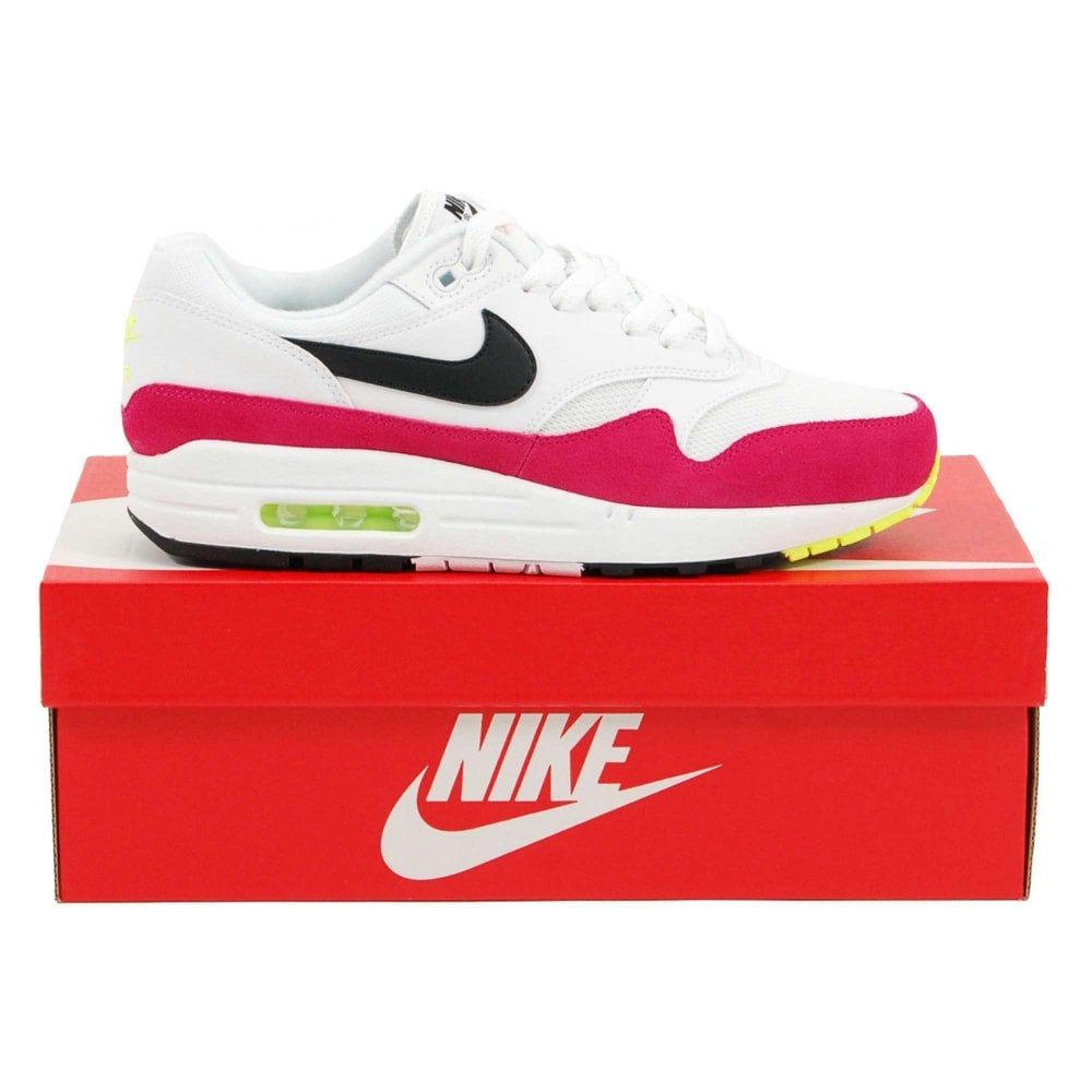 hot sale online c2fc9 8ab40 Air Max 1 White Black Volt Rush Pink