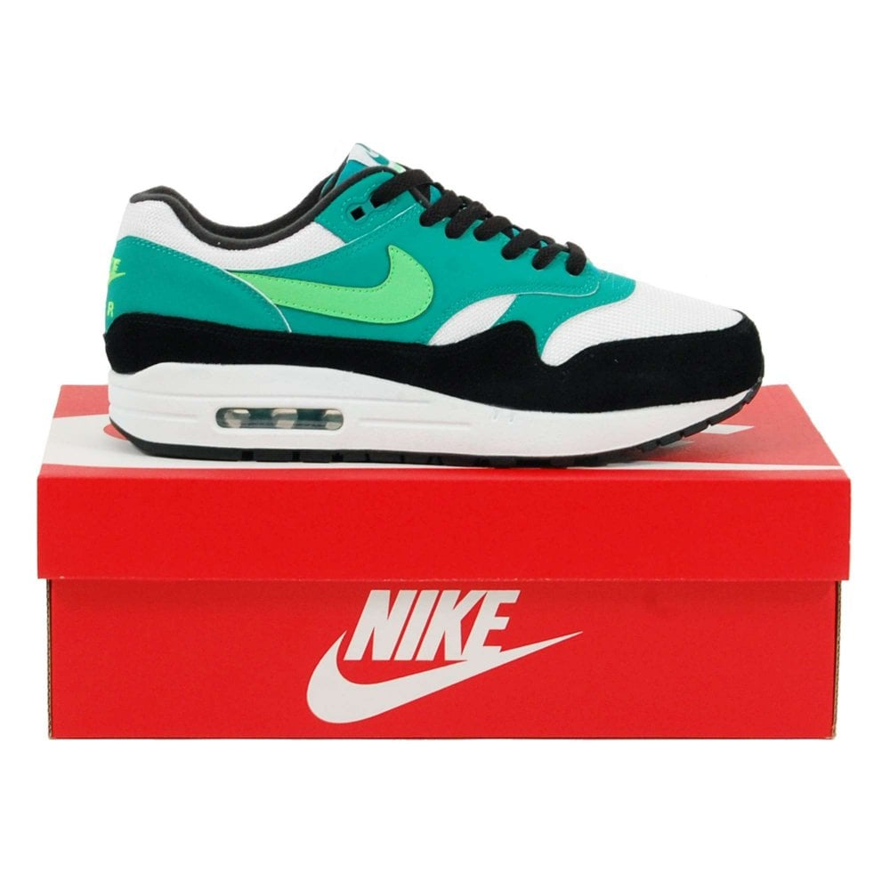 high fashion best quality release date Nike Air Max 1 White Green Strike Neptune Green Black