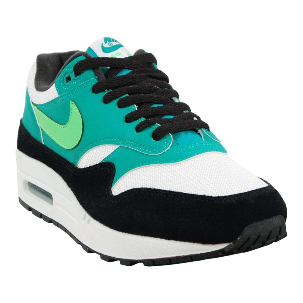 new style 573de 8c0cb Air Max 1 White Green Strike Neptune Green Black