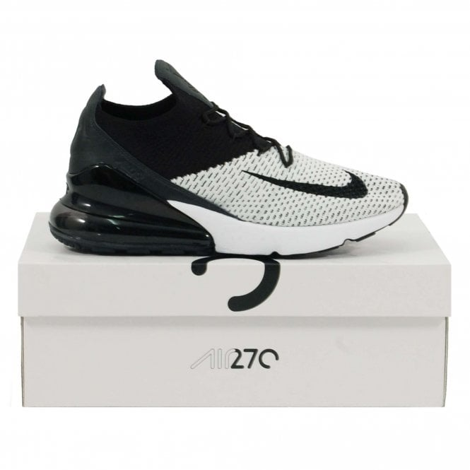 huge discount 56ed4 6a7ce Nike Air Max 270 Flyknit White Anthracite Black