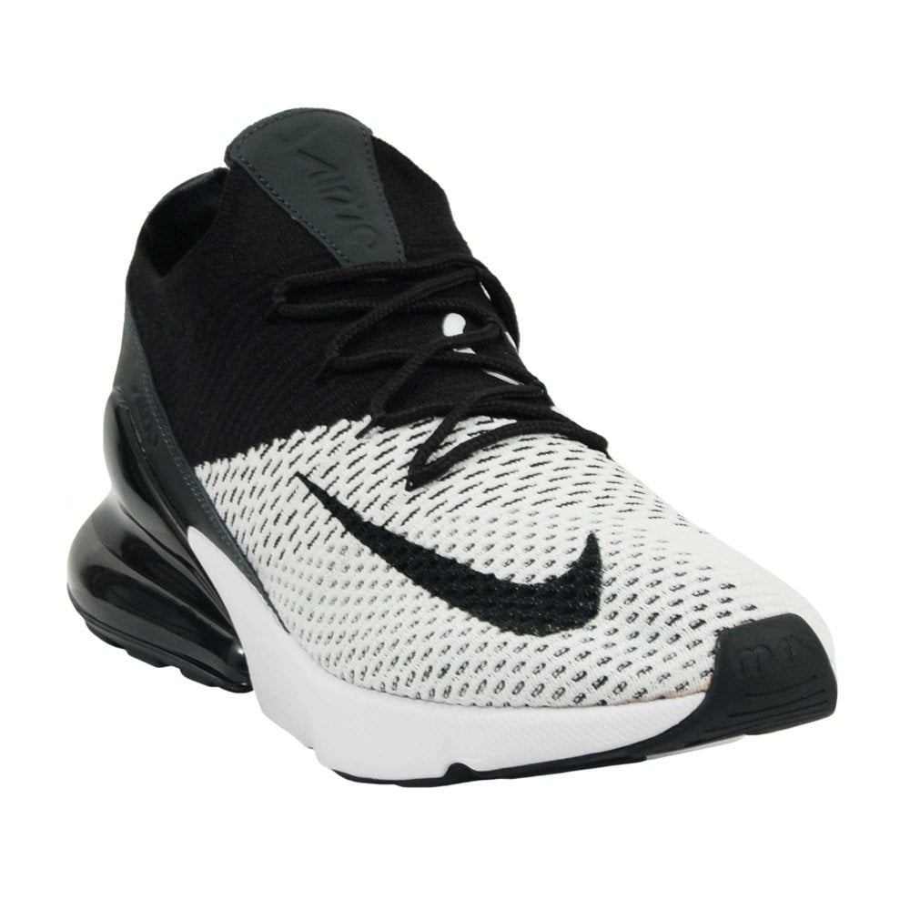 1f3eef2c14 Nike Air Max 270 Flyknit White Anthracite Black - Mens Clothing from ...