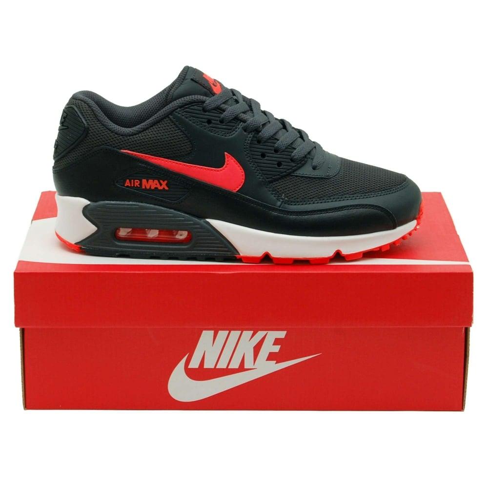 bb96c2f7d2f7 Nike Air Max 90 Essential Anthracite Total Crimson White - Mens ...