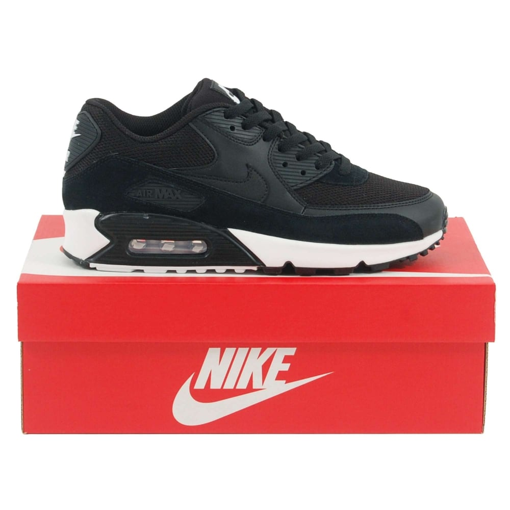 dd92922581d4d Nike Air Max 90 Essential Black White Black - Mens Clothing from ...