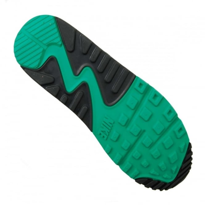 5e22667139 Nike Air Max 90 Essential Black White Lucid Green - Mens Clothing ...