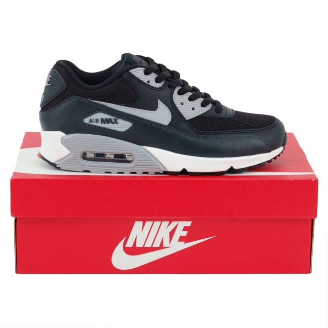 617a9cecfa88 Nike Air Max 90 Essential Black Wolf Grey Anthracite - Mens Clothing ...