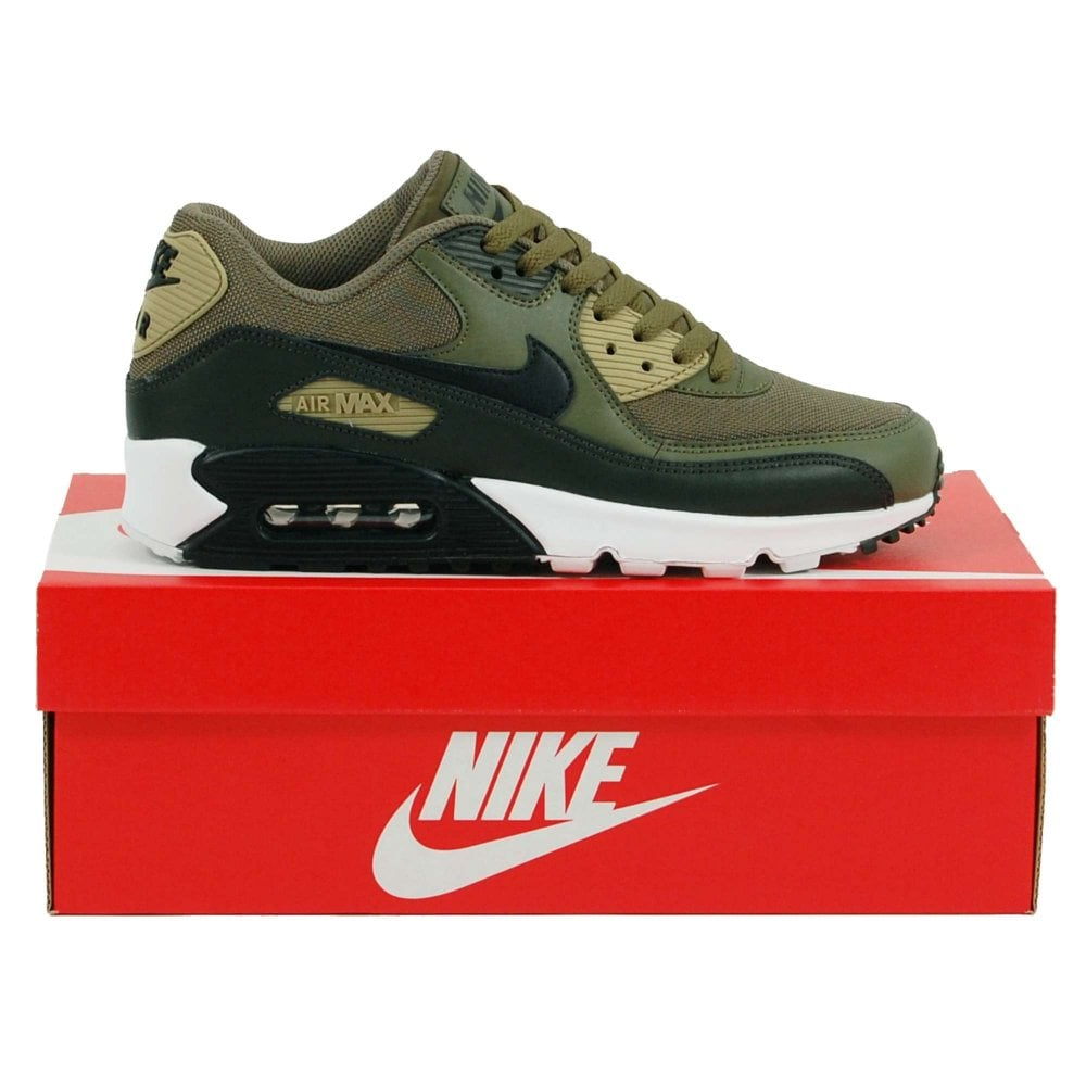 Nike Air Max 90 Essential Medium Olive Sequoia Neutral Olive Black ...