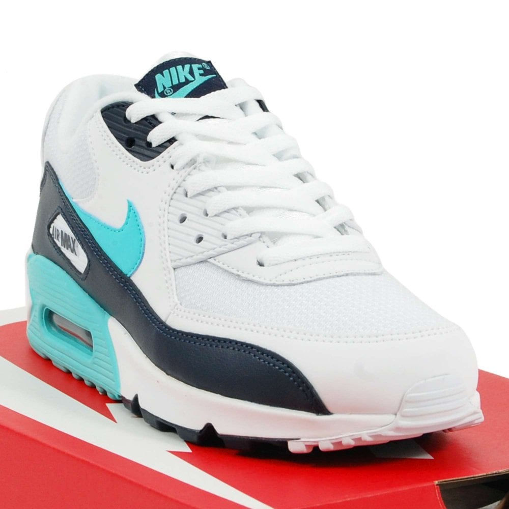 finest selection 4547c 7f58c Nike Air Max 90 Essential White Aurora Green Obsidian
