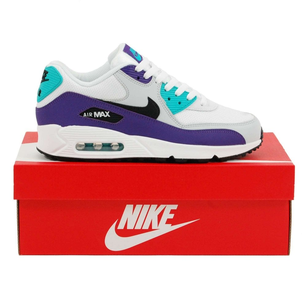 cff7c8d559d9c Nike Air Max 90 Essential White Black Hyper Jade Grape - Mens ...