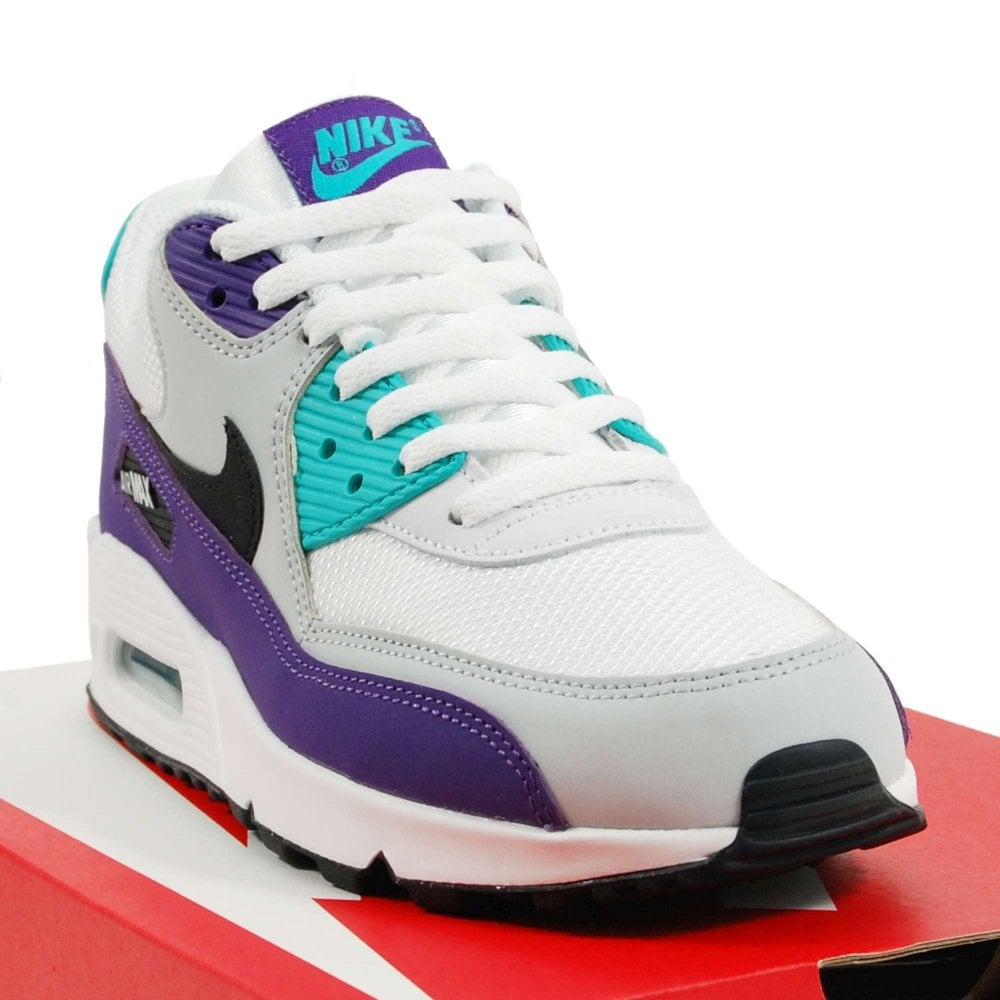 cheaper f12fd 507de Air Max 90 Essential White Black Hyper Jade Grape