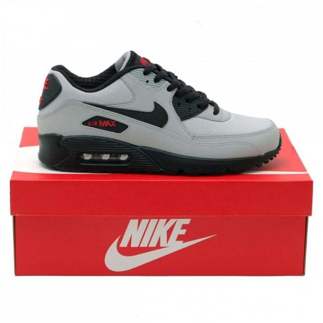 Nike Air Max 90 Essential Wolf Grey Black Uni Red