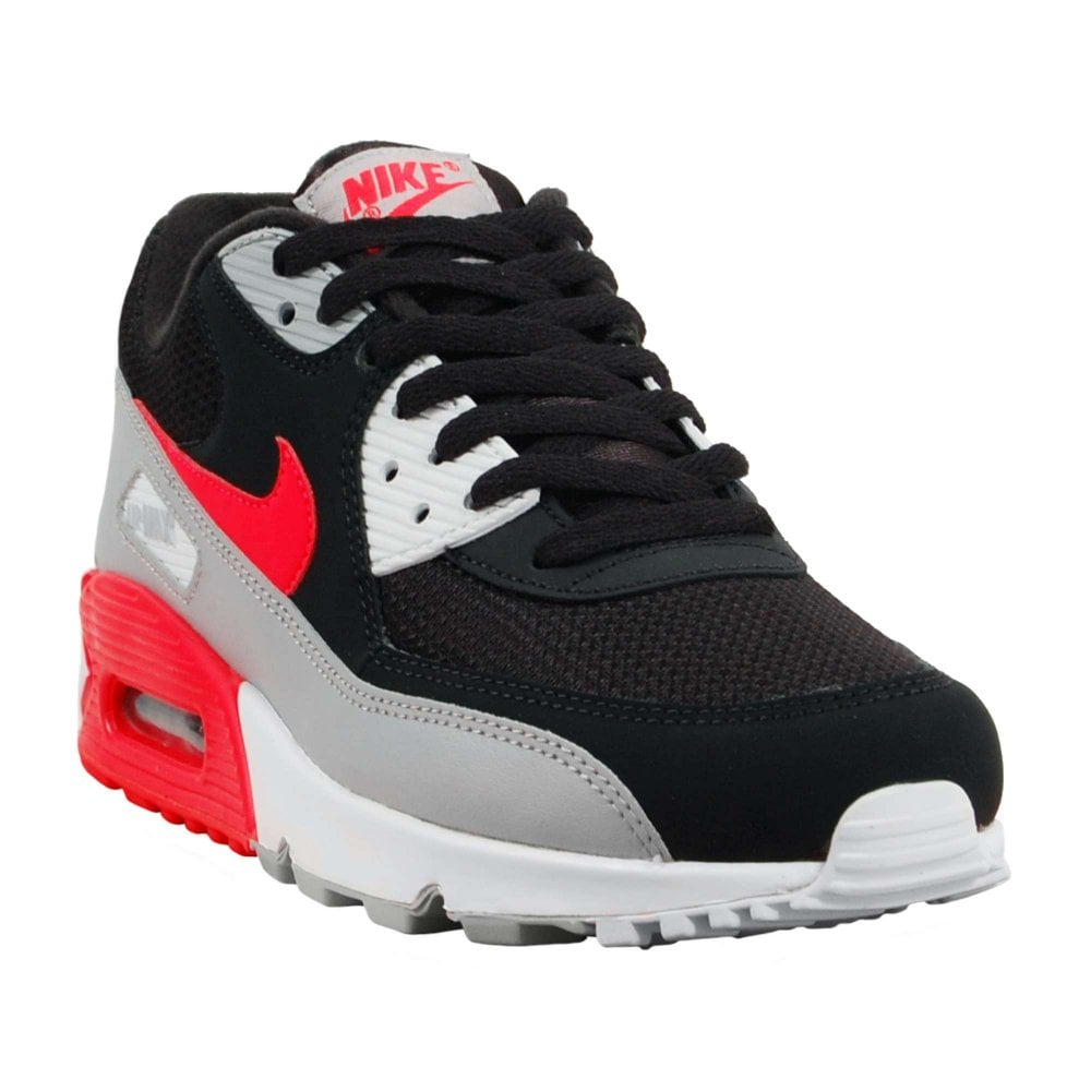 58ea8c793a Nike Air Max 90 Essential Wolf Grey Bright Crimson Black White ...
