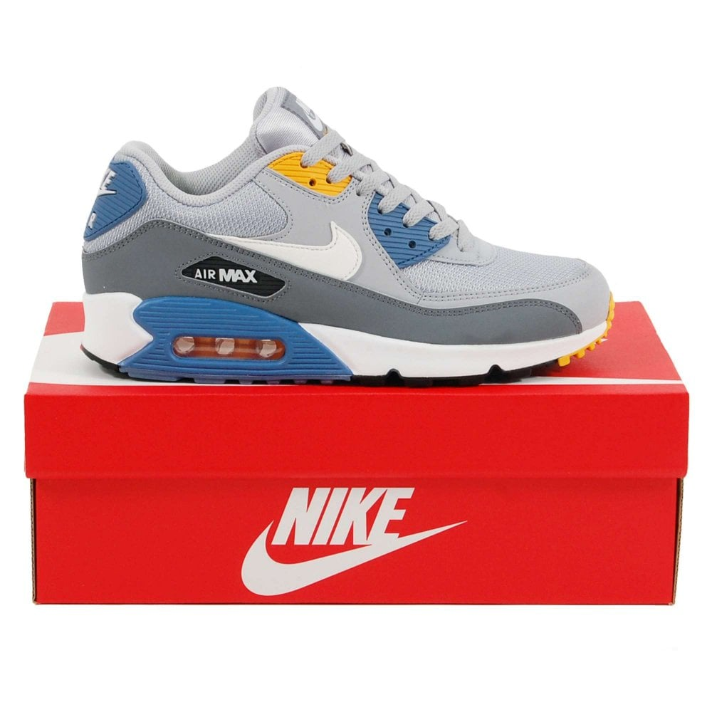 reputable site 77f95 c184b Air Max 90 Essential Wolf Grey White Indigo Storm