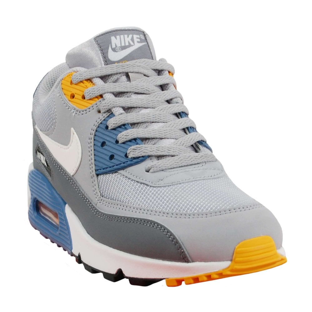 Nike Air Max 90 Essential Wolf Grey White Indigo Storm - Mens ... 24d6db2a0824e