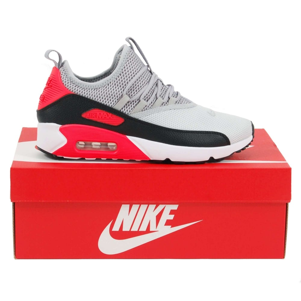 Nike Air Max 90 EZ Pure Platinum Wolf Grey Bright Crimson Black - Mens  Clothing from Attic Clothing UK 78241692d