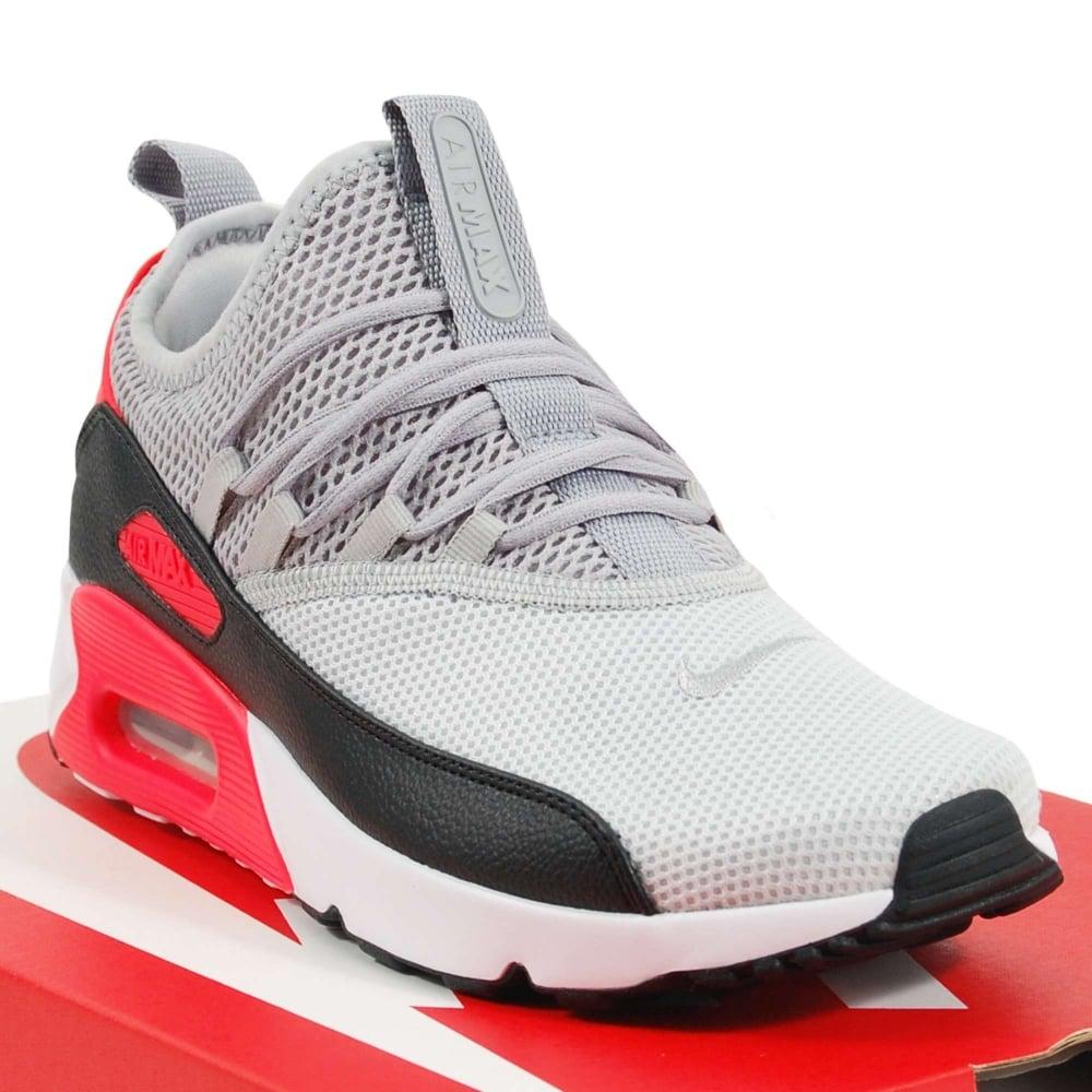 save off 9a5eb 5b3ca Nike Air Max 90 EZ Pure Platinum Wolf Grey Bright Crimson Black