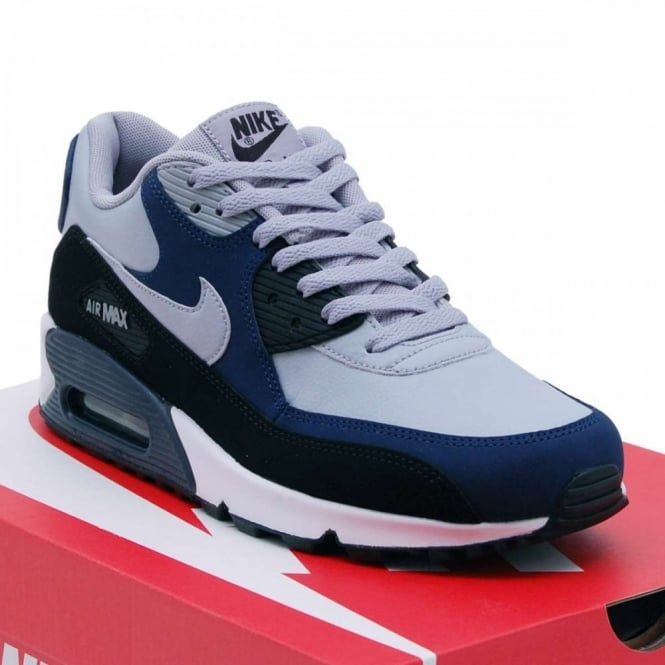 meet 6e466 cb08d Air Max 90 Leather Wolf Grey Midnight Navy