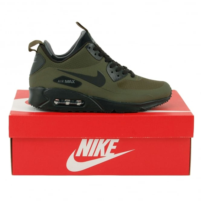 Nike Air Max 90 Mid Winter Dark Loden Black Dark Grey - Mens ... 055f794b6