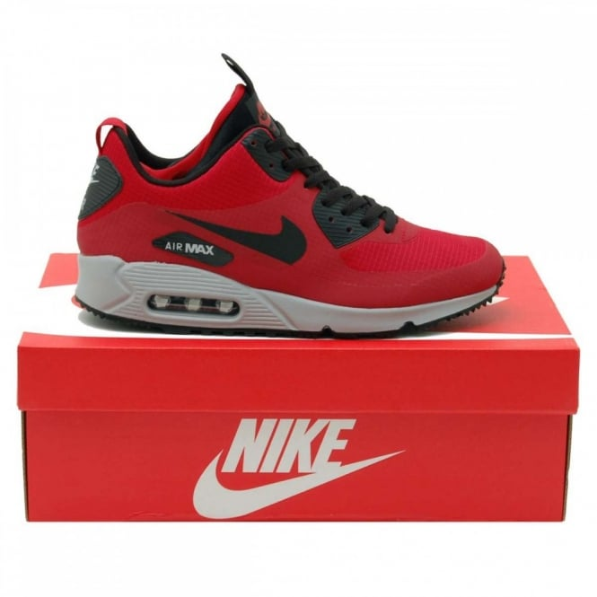 premium selection 2cbe4 5e9a6 Nike Air Max 90 Mid Winter Gym Red Black