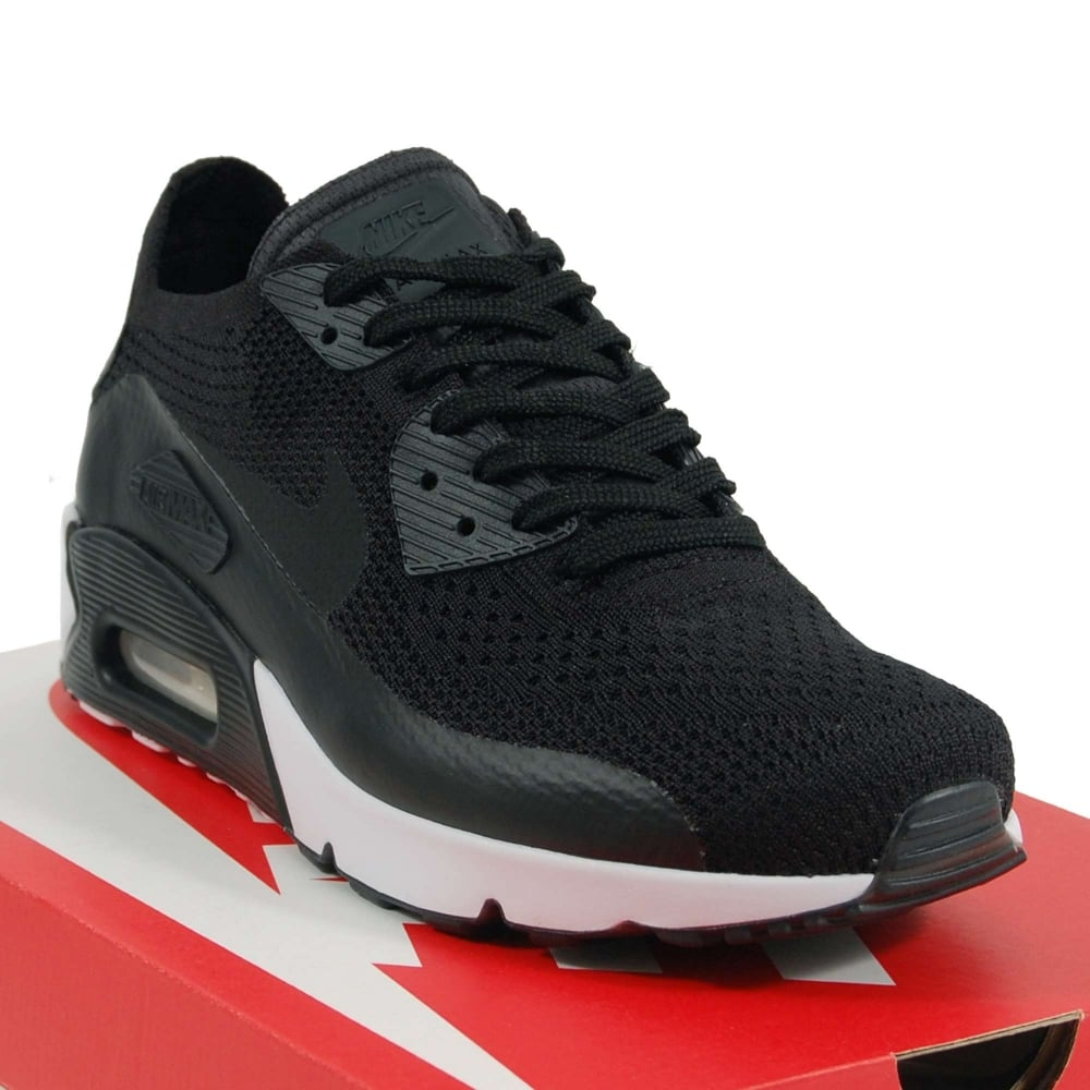 new concept 939c2 65e51 Nike Air Max 90 Ultra 2.0 Flyknit Black White