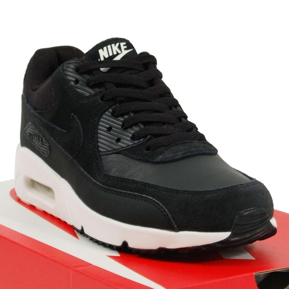 4e9d0ae36d Nike Air Max 90 Ultra 2.0 Leather Black Summit White Black - Mens ...
