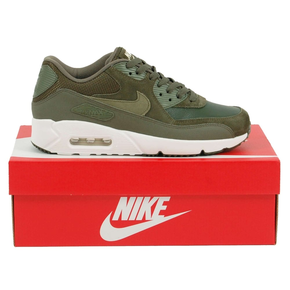 90757e041684 Nike Air Max 90 Ultra 2.0 Leather Cargo Khaki Medium Olive Summit ...