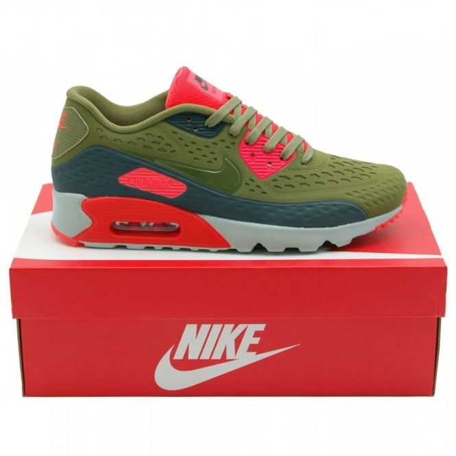 nouvelle arrivee 79910 9a16f Nike Air Max 90 Ultra BR Scenery Green Bright Crimson