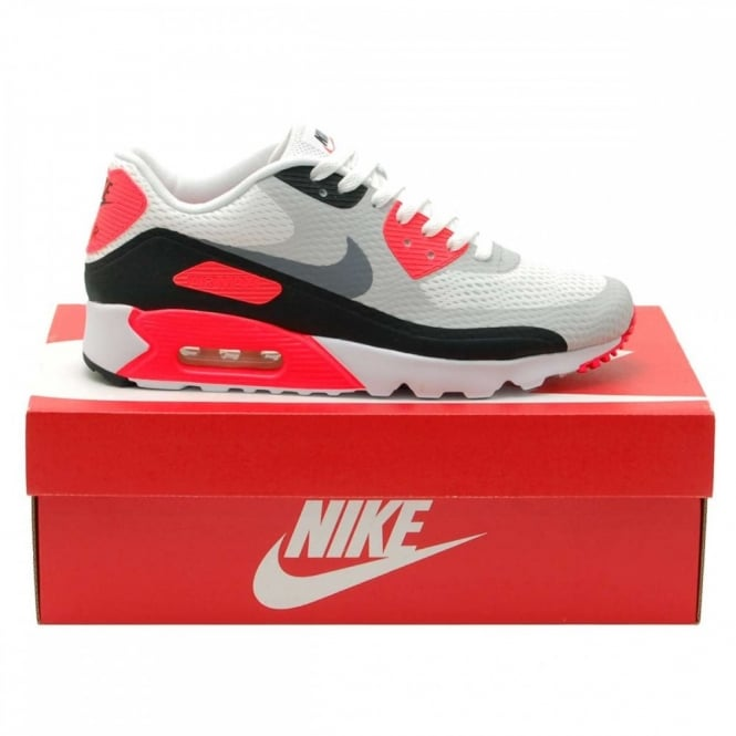4cec6833655d Nike Air Max 90 Ultra Essential White Infrared Cool Grey - Mens ...