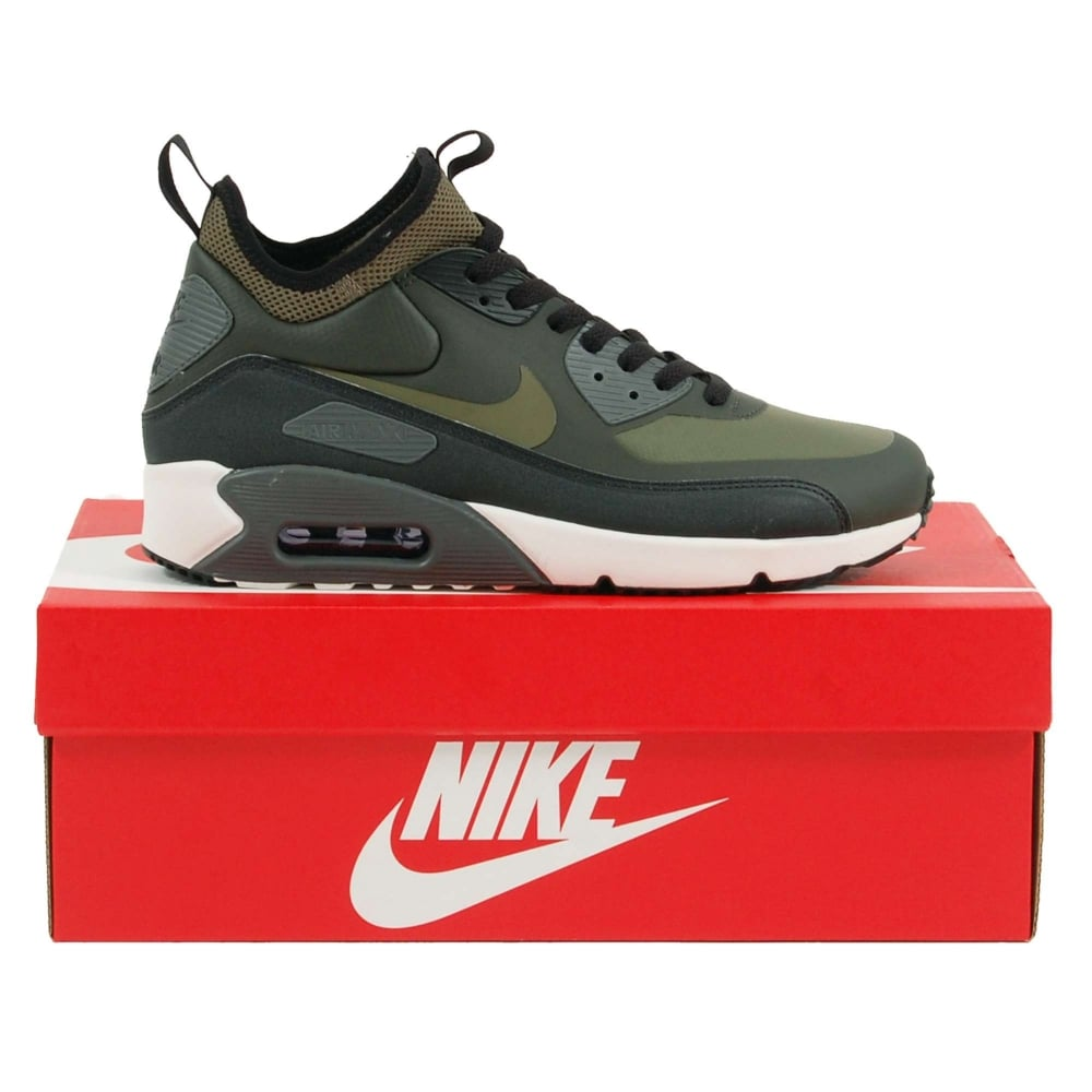 d25ec7defd Nike Air Max 90 Ultra Mid Winter Sequoia Black Dark Grey Med Olive ...
