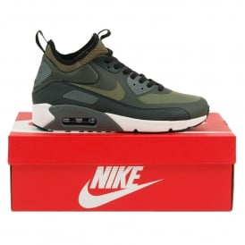 Air Max 90 Ultra Mid Winter Sequoia Black Dark Grey Med Olive
