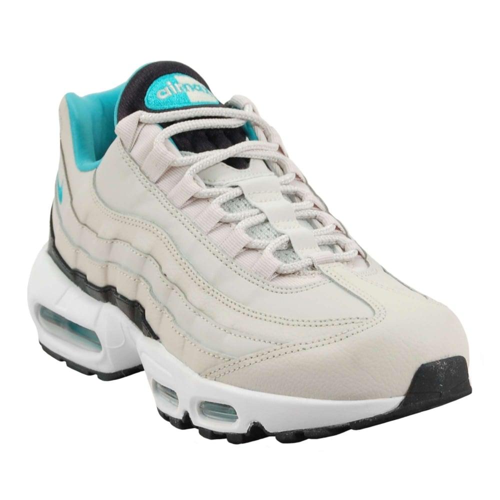 more photos dfd1e 13495 Nike Air Max 95 Essential Light Bone Black White Sport Turquoise