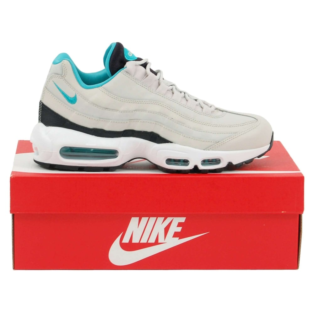 separation shoes 5951c df686 Air Max 95 Essential Light Bone Black White Sport Turquoise