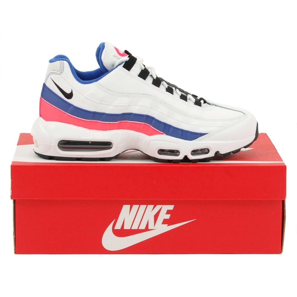 size 40 f929c f26f4 Air Max 95 Essential White Solar Red Ultramarine Black