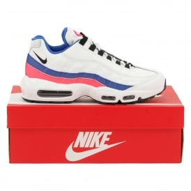 Air Max 95 Essential White Solar Red Ultramarine Black
