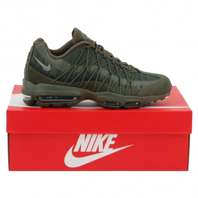 Nike Air Max 95 Ultra Jacquard Cargo Khaki Dark Stucco Black